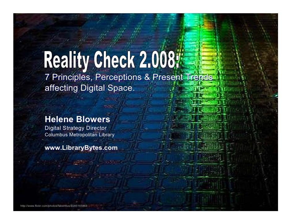 Reality Check 2.008