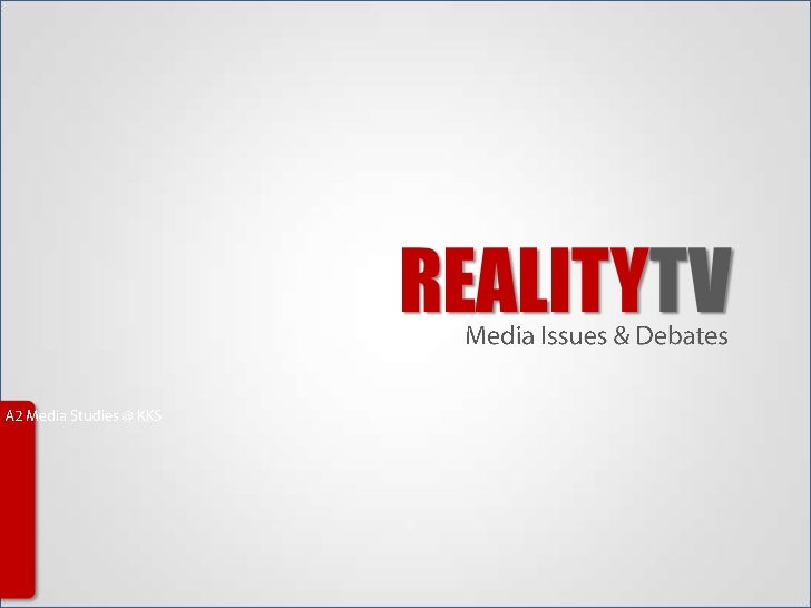 reality tv thesis paper Download thesis statement on reality vs reality tv in our database or order an original thesis paper that will be written by one of our staff writers and delivered according to the deadline.