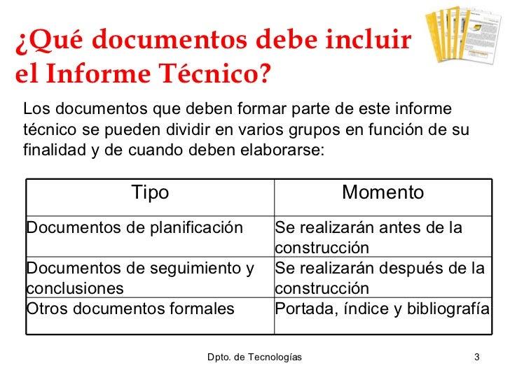 Realizaci n del informe t cnico - Tecnico en construccion ...