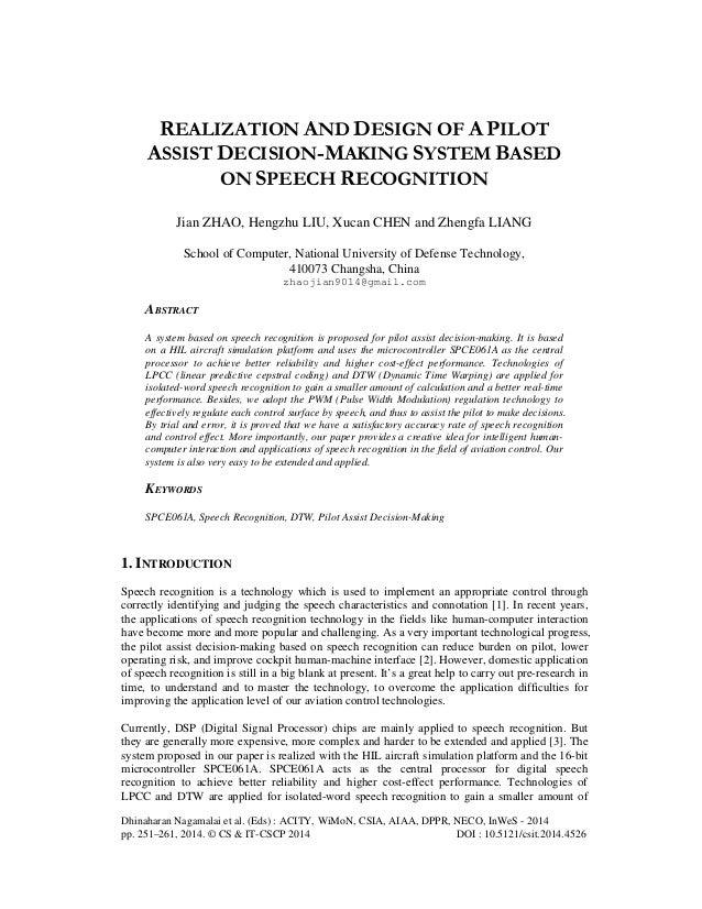 Dhinaharan Nagamalai et al. (Eds) : ACITY, WiMoN, CSIA, AIAA, DPPR, NECO, InWeS - 2014 pp. 251–261, 2014. © CS & IT-CSCP 2...