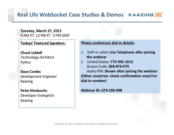 Real Life WebSocket Case Studies and Demos