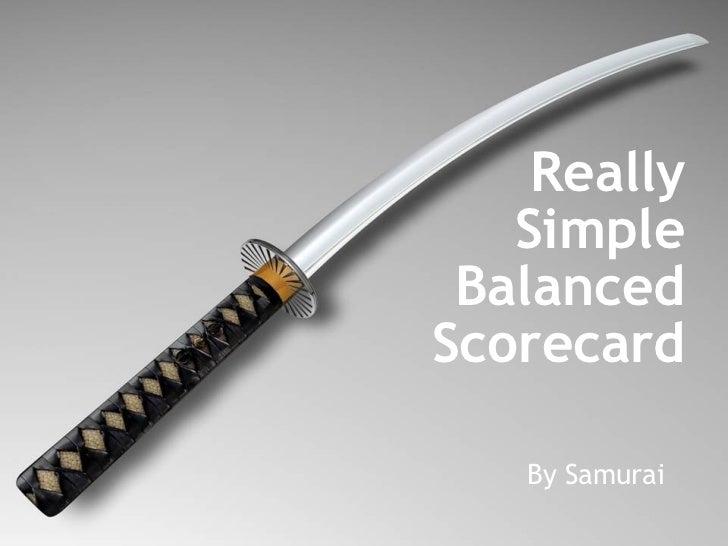 Really Simple Balanced Scorecard