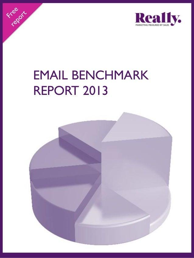 B2B Email Benchmark Summary 2013