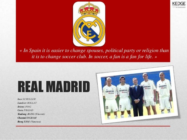 « In Spain it is easier to change spouses, political party or religion than it is to change soccer club. In soccer, a fan ...