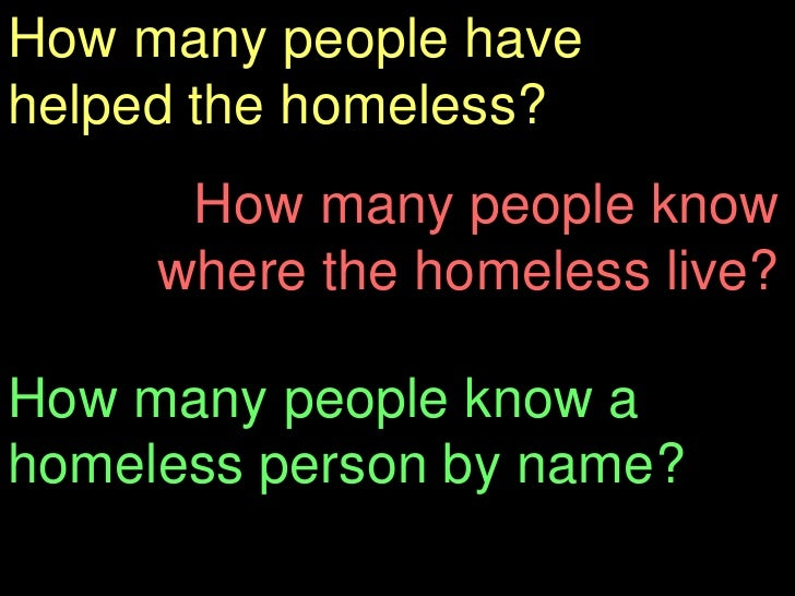 Thesis Statement On Homelessness