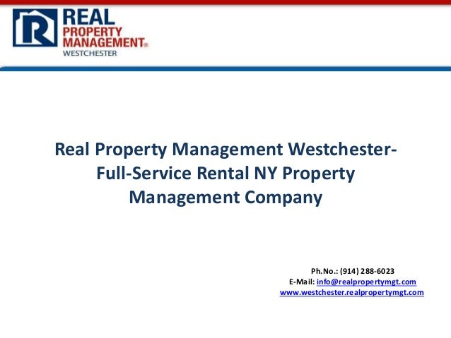 Real Property Management Westchester- Full-Service Rental NY Property Management Company
