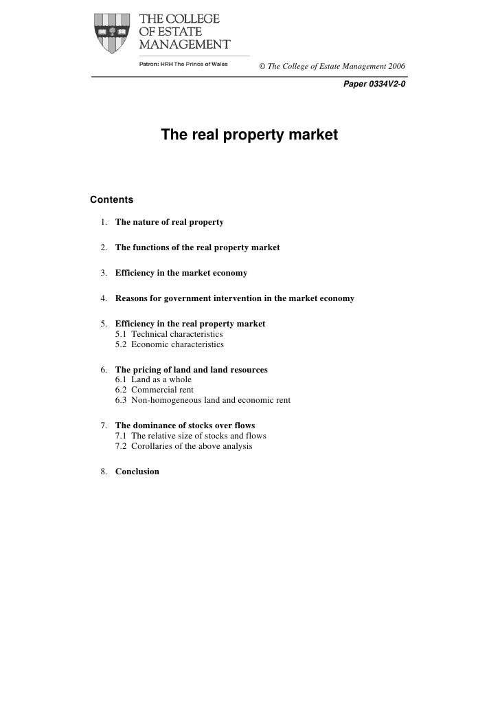 Real property market