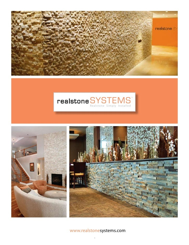 realstone systems                                        tm               Realstone Simply Installed       www.realstonesy...