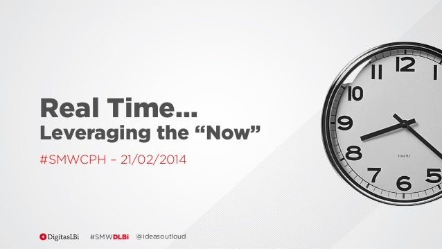 "Real Time… Leveraging the ""Now"" #SMWCPH – 21/02/2014  #SMWDLBi  @ideasoutloud"
