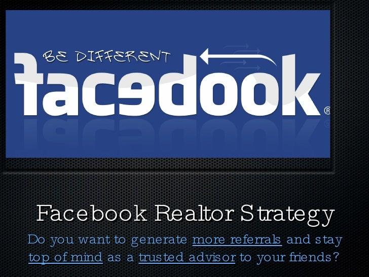 Realtor Facebook Strategy