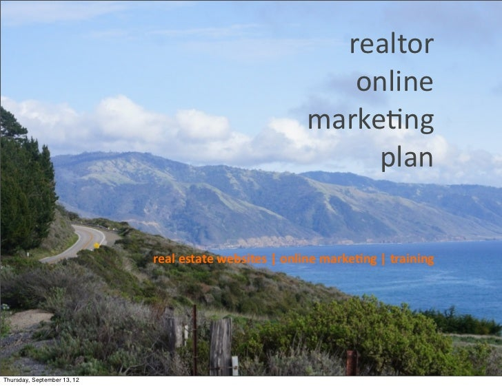 Realtor online marketing plan
