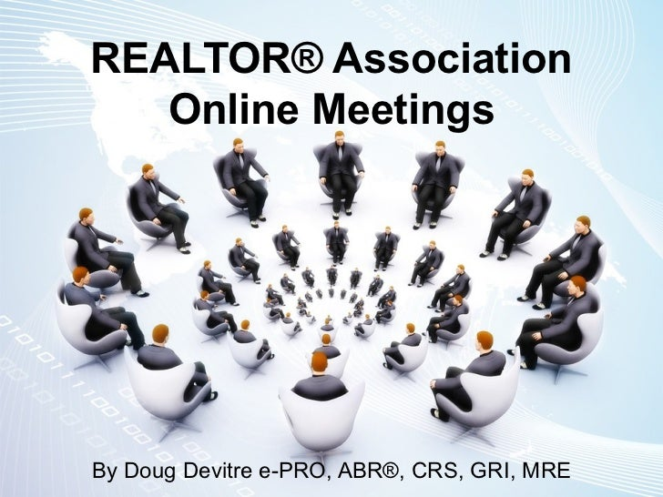 Realtor Association Online Meetings