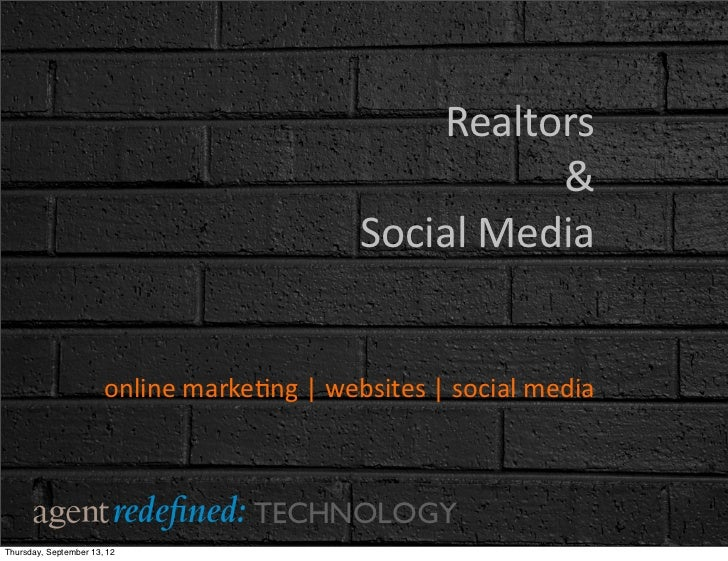 Realtors & social media presentation full copy