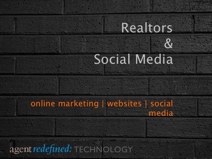 Realtors                          &               Social Mediaonline marketing | websites | social                        ...
