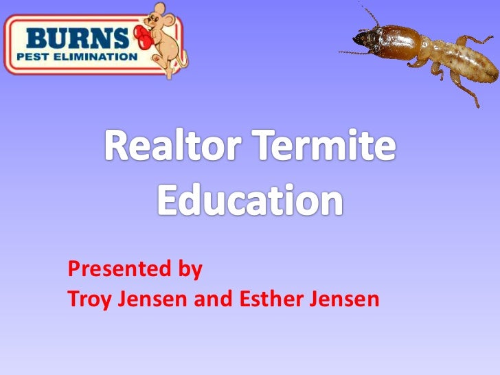 Realtor Termite Education<br />Presented by<br />Troy Jensen and Esther Jensen<br />