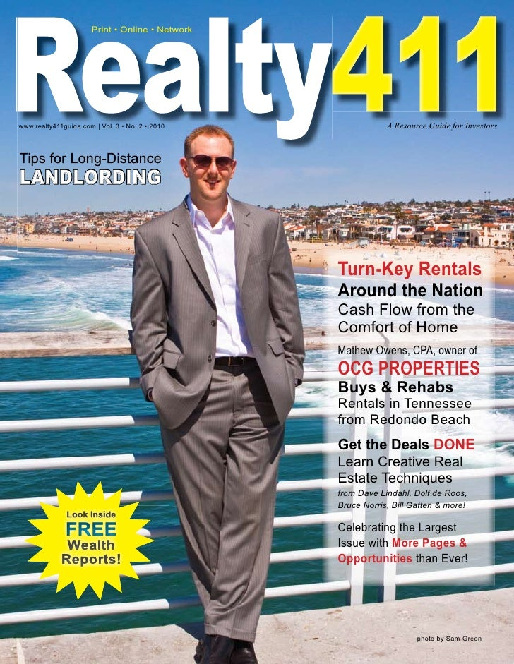 Realty411 Realty411                       Print • Online • Network     www.realty411guide.com   Vol. 3 • No. 2 • 2010     ...