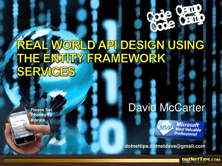 Real World API Design Using The Entity Framework Services