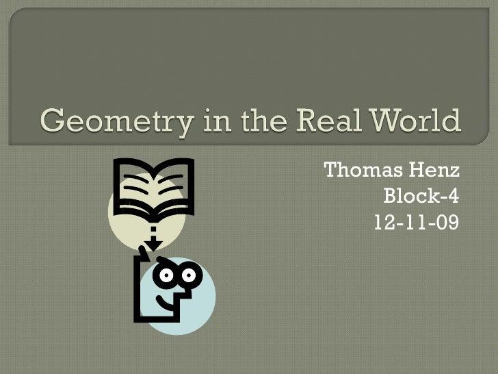Thomas Henz Block-4 12-11-09
