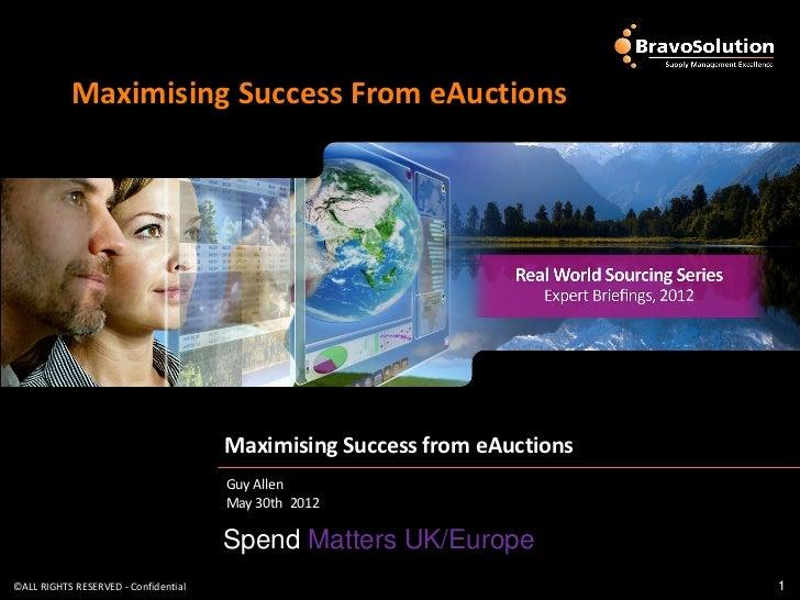 Maximising Success From eAuctions                                      Maximising Success from eAuctions                  ...
