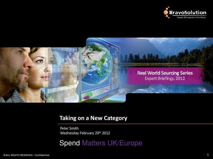 Real world sourcing - Taking on a New Category