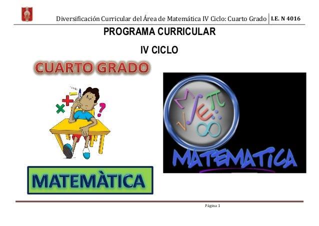 áRea matemática iv ciclo 4º rutas