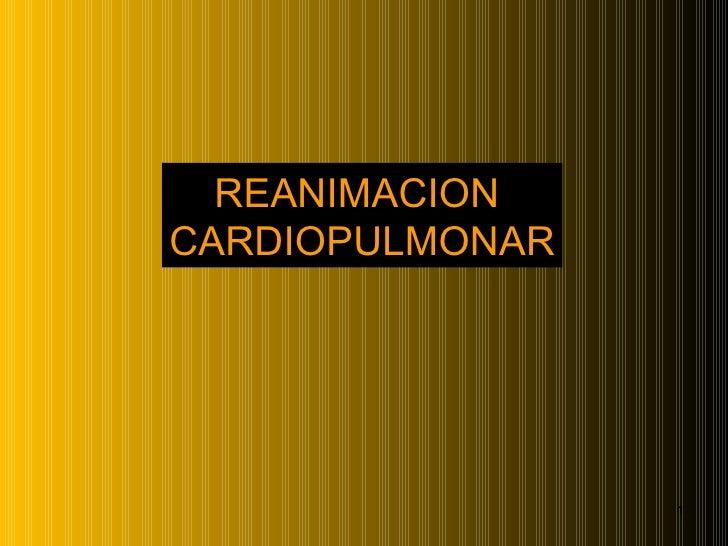 Reanimación cardiopulmonar enfermería