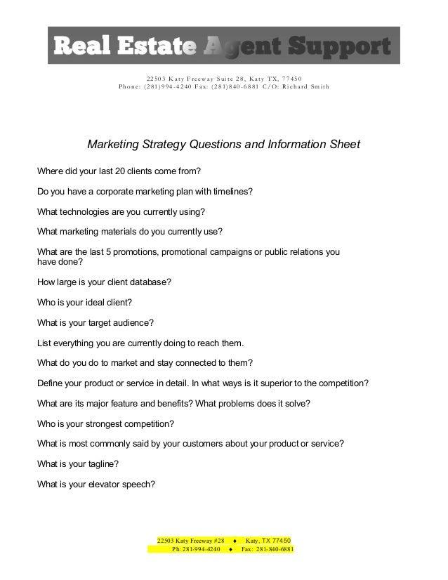 REA Questionnaire