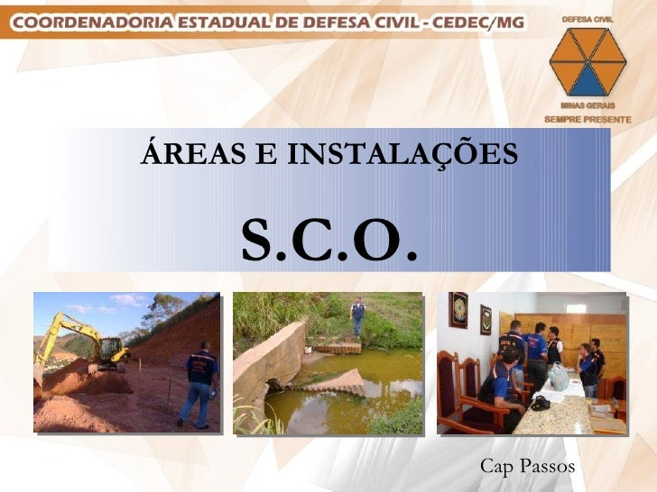 áreas e instalações do SCO