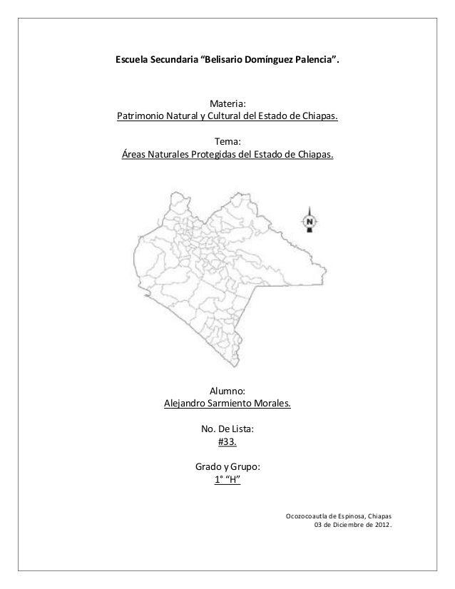 """Escuela Secundaria """"Belisario Domínguez Palencia"""".                     Materia:Patrimonio Natural y Cultural del Estado de..."""