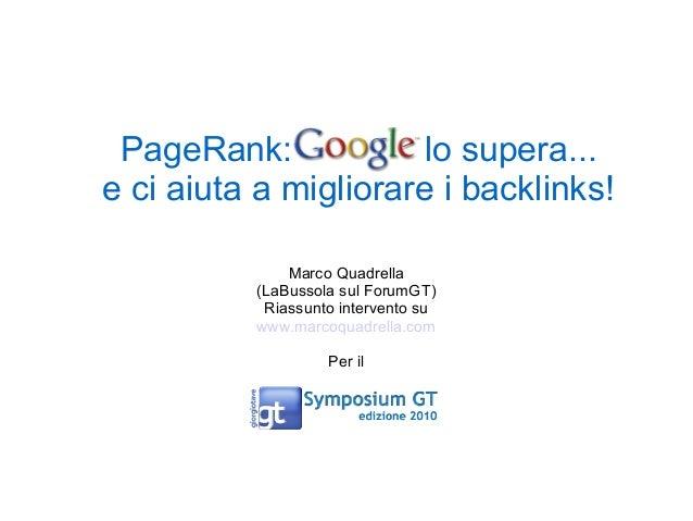 Reasonable surfer: Google evolve il PageRank.