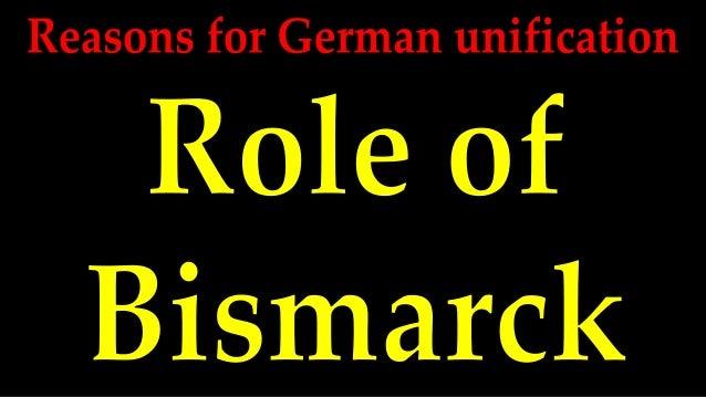 Reasons for german unification   bismarck