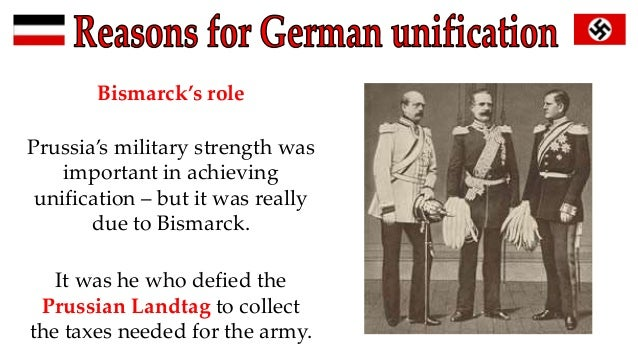 a history of the unification of germany under otto von bismark On jan 18, 1871, germany achieved unification after centuries of political division the architect of the unification was otto von bismarck, chancellor of prussia, who engineered a series of wars to achieve his political aims.