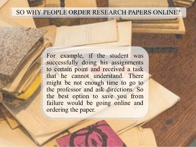 help on writing a research paper