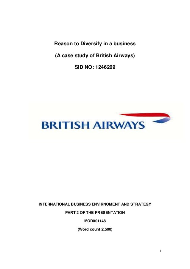 Essays culture british airways
