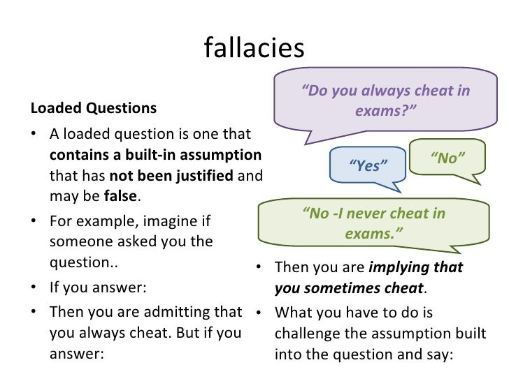 fallacy and correct answer Fallacies a fallacy is a kind is correct in claiming this occurs when the issue is how to answer some question the fallacy occurs when someone's.