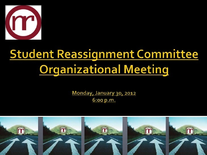COMMITTEE ORGANIZATIONAL MEETING                                       Auditorium, School Administration Building         ...