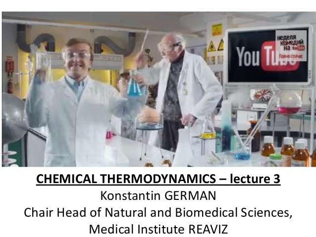 Reaviz chemical thermodynamics lecture 3