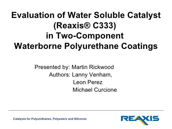 Reaxis waterborne presentation acs2012