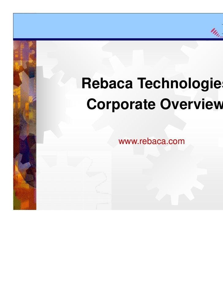 Rebaca Technologies Corporate Overview