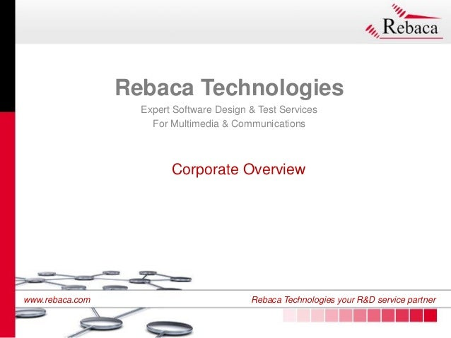 Rebaca technologies corporate overview