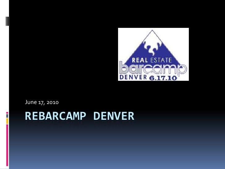 Real Estate BarCamp Denver 2010