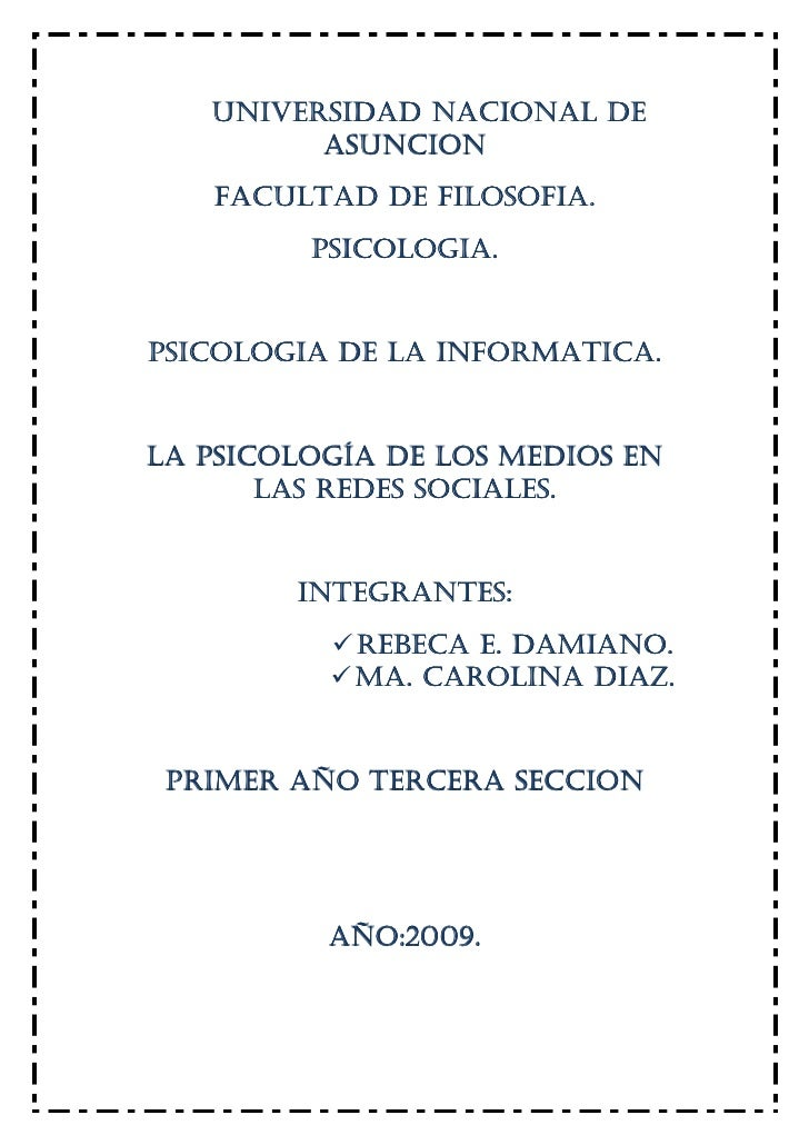 Rebeca Damiano Psicología de La Informática