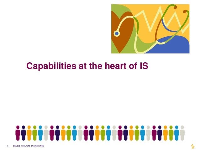 Capabilities at the heart of IS1   DRIVING A CULTURE OF INNOVATION