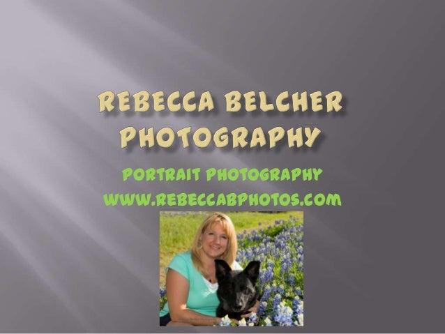 Portrait Photography www.RebeccaBphotos.com