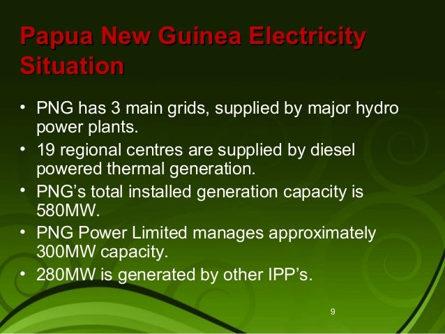 Hydroelectric power stations in Papua New Guinea shops
