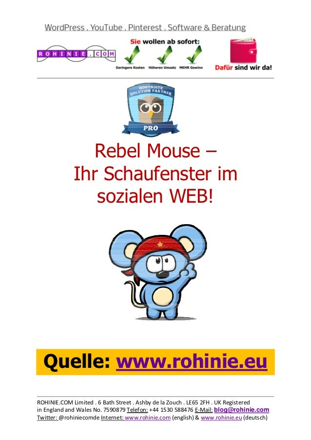 Rebel Mouse - Ihr Social-Media-Schaufenster!