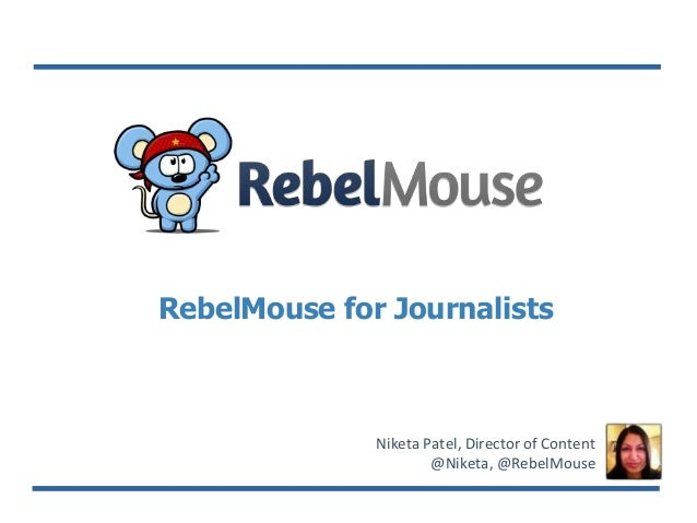 RebelMouse for Journalism Group