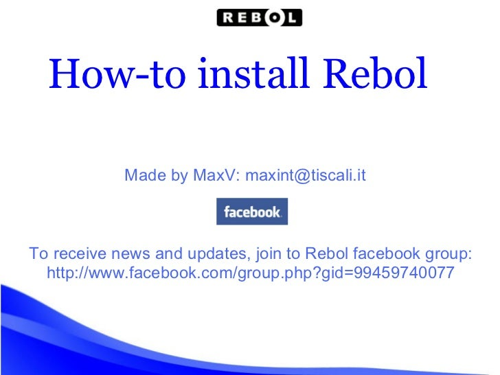 How-to install Rebol Made by MaxV: maxint@tiscali.it To receive news and updates, join to Rebol facebook group: http://www...