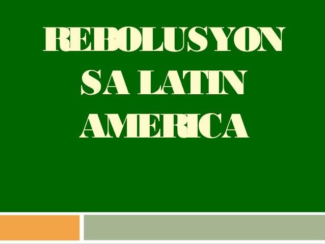 Rebolusyon sa latin america