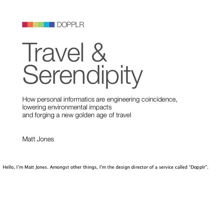 Reboot9.0: Travel & Serendipity